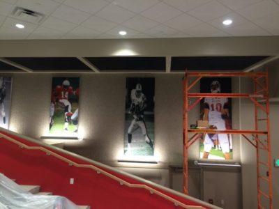 ADW custom acoustic panels of football heros